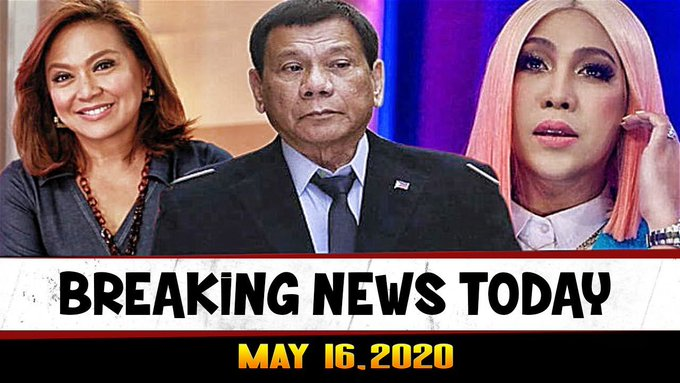 BREAKING NEWS TODAY MAY 16, 2020 PRES DUTERTE l ABS CBN l VICE GANDA l KAREN l MARIA RESSA l FLM -  (2020)
