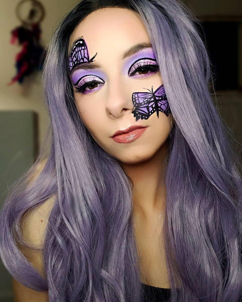 I created this look in honor of #LupusAwarenessMonth 💜🖤🦋  #PutOnPurple #lupusawareness #chronicillness #makeupartist #makeup #Lupus https://t.co/8GNa6Aam8u