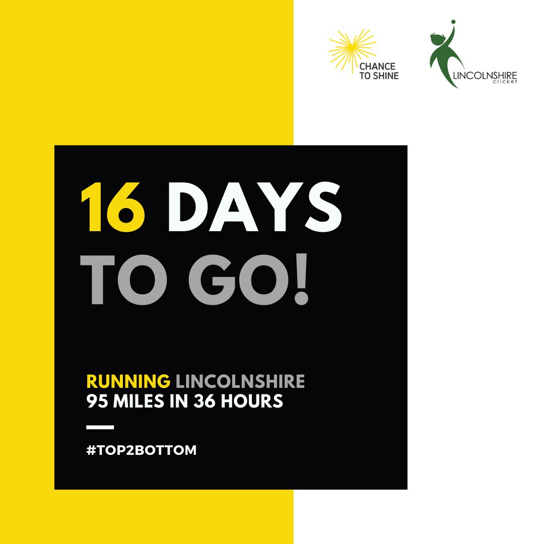 LINCOLNSHIRE TOP TO BOTTOM:  An insane challenge to raise money for @Chance2Shine & a @LincsCricket Restart Fund, as well as a donation going to @samaritans to help people with mental health issues.  Donate here - https://t.co/CLyjGEbnES  #Top2Bottom https://t.co/AFGwZH3HND