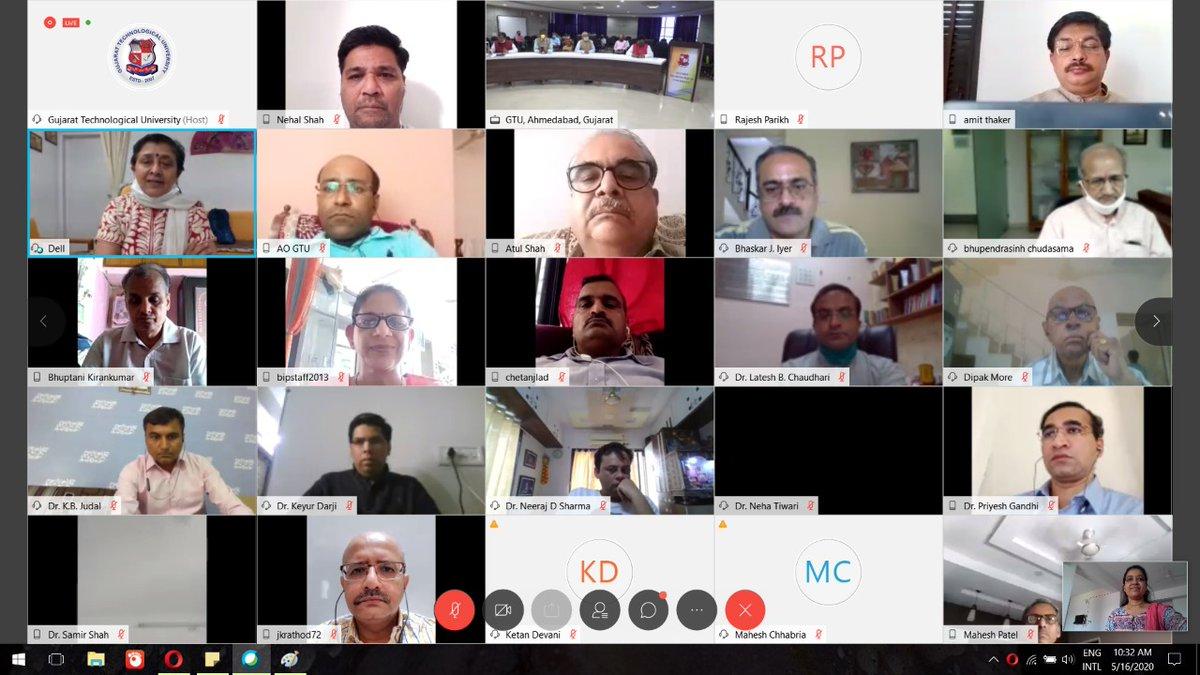 લોકડાઉનના સમયમાં વેબેક્સ અને ફેસબુક જેવા સોશિયલ માધ્યમ થકી @GTUoffice એ નયે ભારત કે લિયે બૌદ્ધિક સંપદા થીમ પર 13મો સ્થાપના દિવસ ઊજવ્યો. @vijayrupanibjp @imBhupendrasinh @vibhavaridave ડિજીટલ ઉપસ્થિતમાં જીટીયુના 13મા સ્થાપના દિવસની ઉજવણી કરાઈ