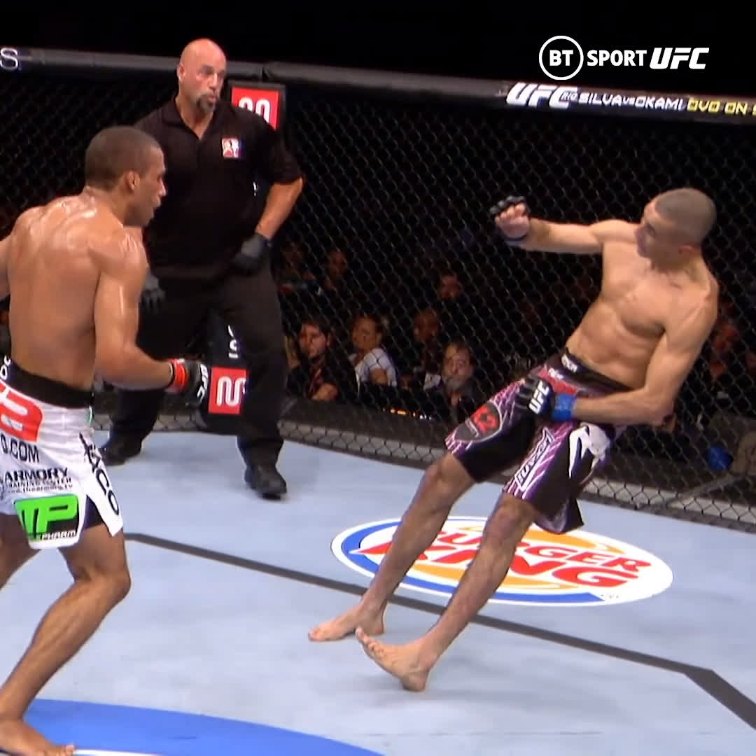 Still outrageous!  #OnThisDay in 2012 Edson Barboza hit Terry Etim with that legendary wheel kick 😱 https://t.co/WwnmtjSNiW