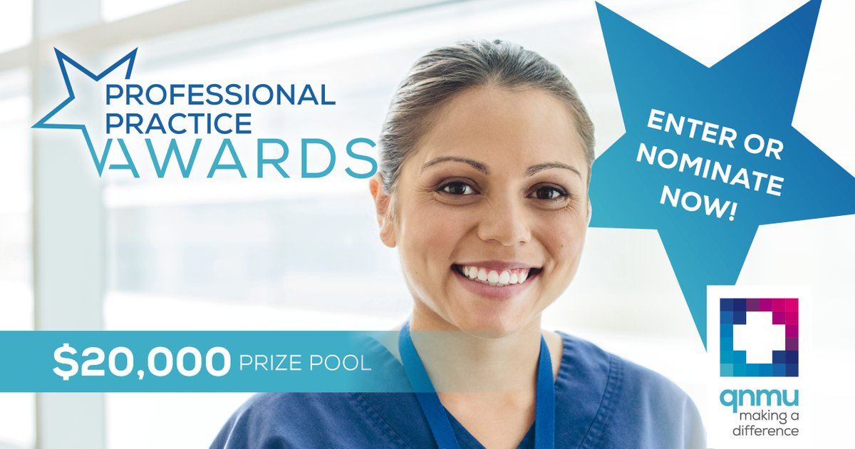 Whether you're a Registered Nurse, Registered Midwife, Enrolled Nurse or an Assistant in Nursing/Personal Carer, there's an award category for you… Enter or nominate by 30 June for your chance to share in the $20,000 prize pool! bit.ly/2WwMpVh #QNMUAwards