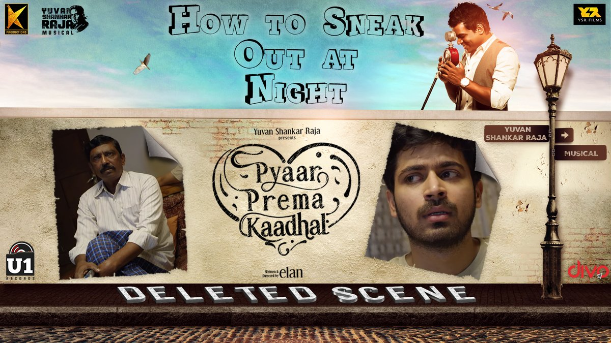 'How to Sneak Out at Night' - The next Deleted Scene from #PyaarPremaKaadhal is Out Now on @U1Records  ▶️ https://t.co/wpZ5oeNDgU  @iamharishkalyan @raizawilson @thisisysr @elann_t @YSRfilms @divomovies https://t.co/fekN8s5DqQ