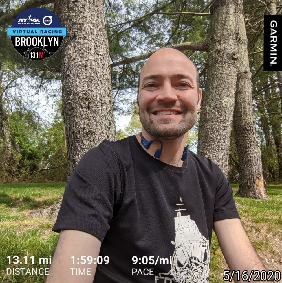 Completed the #NYRR's Virtual Brooklyn Half Marathon! Much warmer than I expected so it was tough but I'm so happy that I dug deep to complete this race and get under my 2 hour goal. #NYRRVolvoVirtualRacing #Running #Fitness #BibChat #RunChat #ShokzSquad #PopularBKHalf https://t.co/OMjzBYqPby