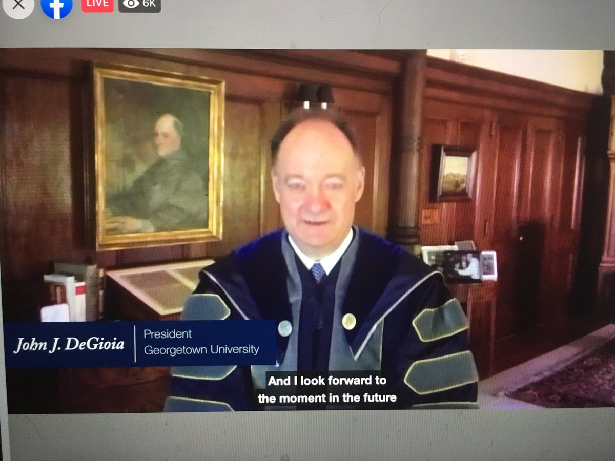 . @georgetown President John J. DeGioia conferring the degrees in course to graduates from the Main Campus, @GUMedicine, and @GeorgetownLaw. @GUAlumni