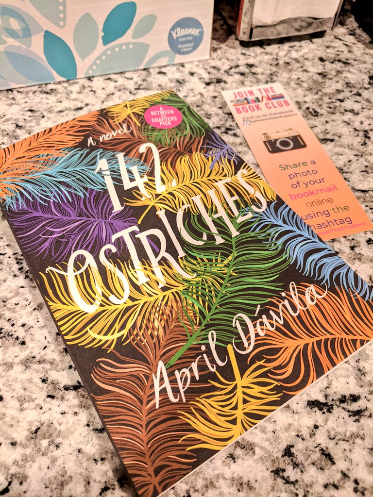 @JGrookett Hi Jaime! I need to recommend 142 Ostriches by @aprildavila. Oh my goodness, rich characters, impossible choices, death, birth, family... And the writing is just gorgeous. This would make for a fantastic discussion!  #142Ostriches #BetweenTheChapters ♥️ https://t.co/yQO2tUrKhG