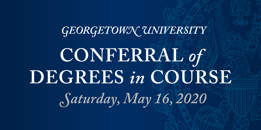 We'll be going live soon! Follow along as well be live tweeting the ceremony today: bit.ly/3cEPKqX #Hoyas2020
