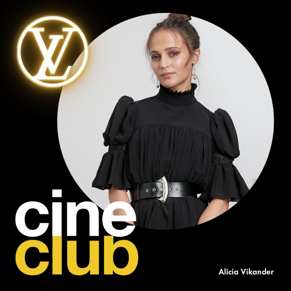 LV Cine Club with #AliciaVikander #LouisVuittons ambassadors are sharing a current selection of movies and series to watch while at home. Discover Alicia's picks now.