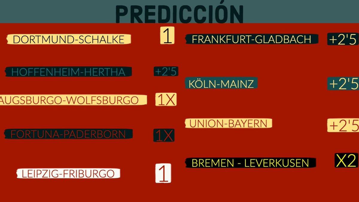 PREDICCIÓN PERSONAL PARA EL FIN DE SEMANA DE #Bundesliga #BundesligaIsBack #Bundestag #BundesligaEnFD #BUNDESLIGAxESPN #DortmundvsSchalke #DORTMUND #COVID19 #Covid_19 #CORONA #BundesligaxFOX #Bundesliga_return #BayernMunich https://t.co/GdQcviCLyL