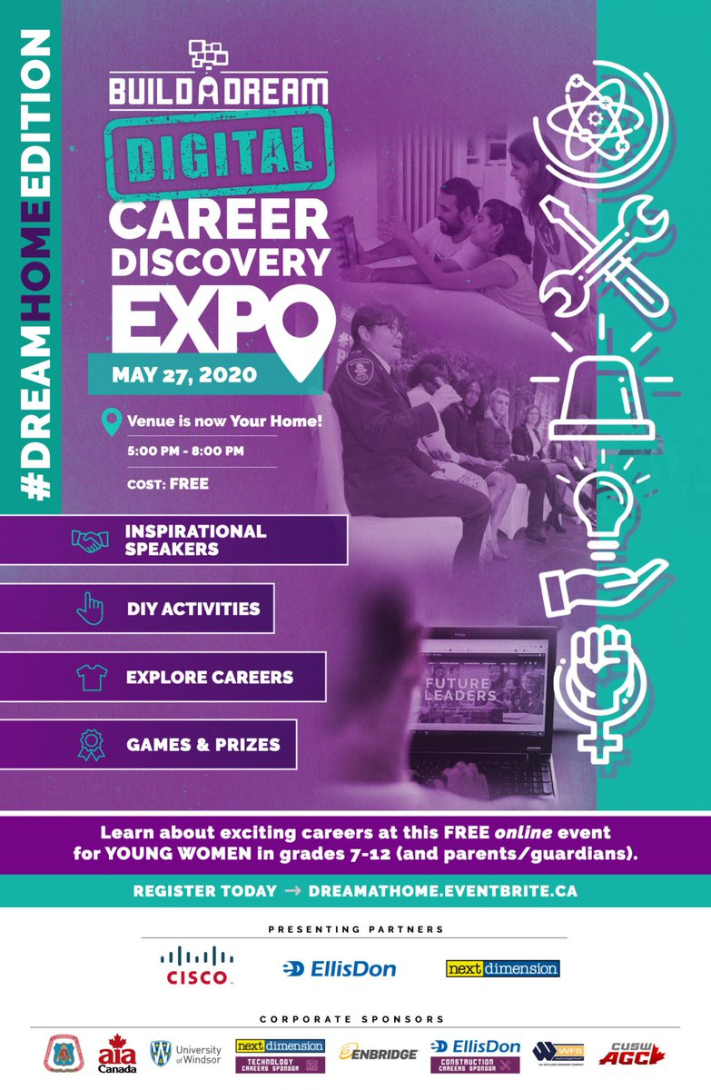 Calling all young women, grades 7-12...are you registered for the #BuildADream Career Expo on May 27th?  Sign up today >>> https://www.webuildadream.com/events/ @WellingtonCathpic.twitter.com/tpKqAD6rIM