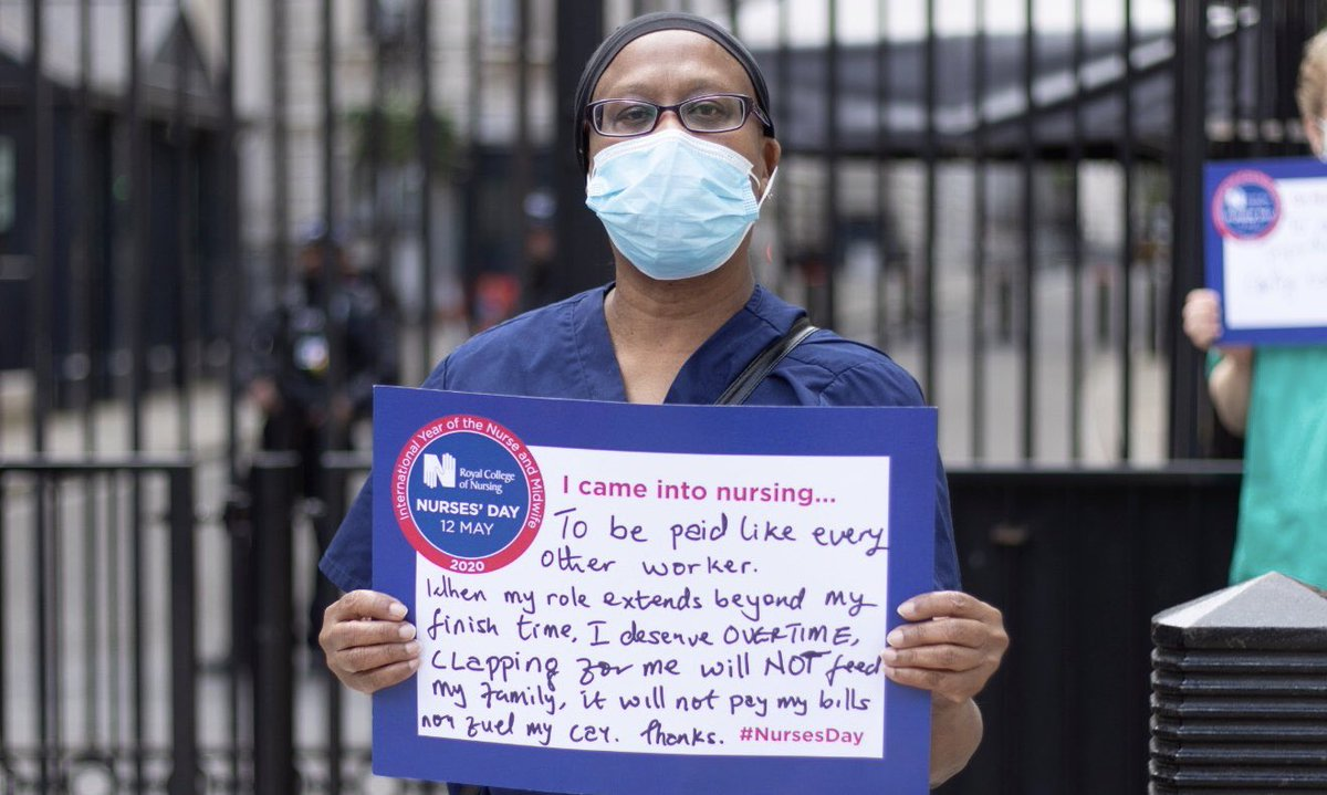 Health workers have been ordered not to protest over pay because it undermines public confidence in the NHS. If they're so concerned, why not pay them for the work they do?