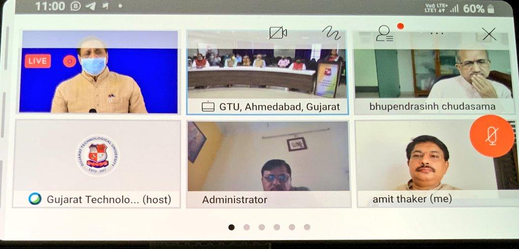 "Today attended 13thfoundationday of @GTUoffice milestone in technological educational uni with gracefulpresence ofCMSh @vijayrupanibjp ji,Sh @imBhupendrasinh ji,Sh @vibhavaridave ji,VCDrNavinSheth &otherofficials on""Intellectual property for NewIndia&shared my opinion with them."