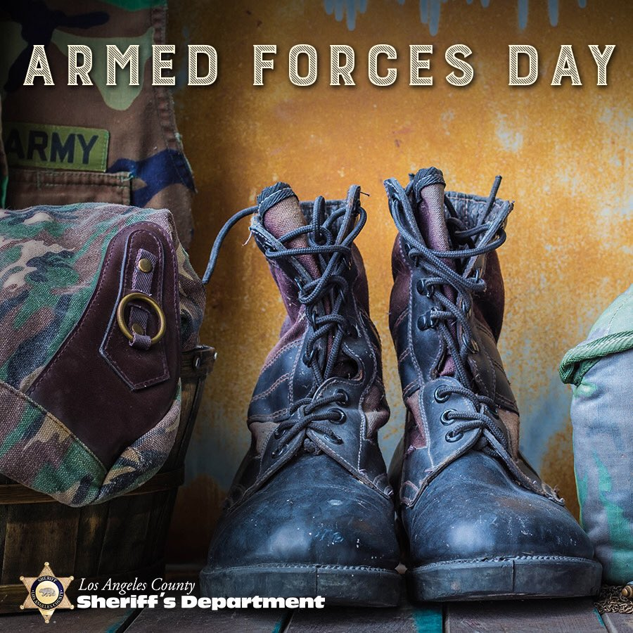 In 1949, U.S. Secretary of Defense Louis Johnson announced the creation of #ArmedForcesDay . Today, #LASD would like to honor, celebrate, and thank all the men & women who are currently serving in the U.S Armed Forces.