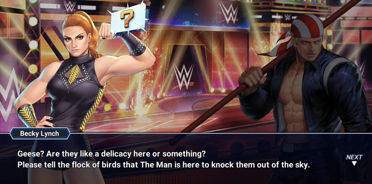 Ť© Fighters Generation On Twitter Some Funny Kof X Wwe Dialogue Kof Kofallstar Snk Wwe Kofオールスター Fgc These are the shows rock howard (the king of fighters series) should be watching. some funny kof x wwe dialogue