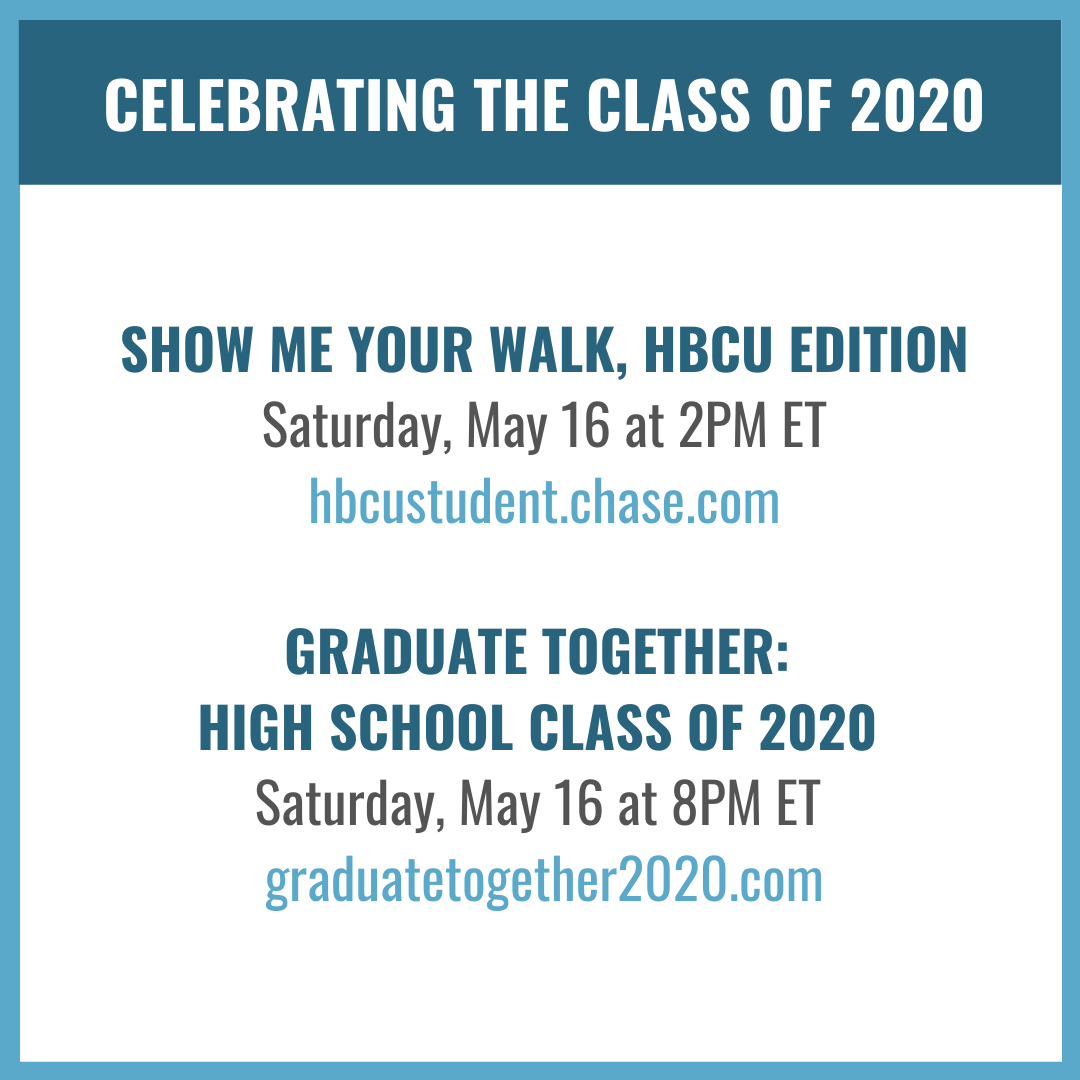 Graduating is a big achievement no matter what, but with all that the Class of 2020 has dealt with to get across the finish line, I think they've earned a little celebration. I hope you'll all join me in honoring them at 2PM ET and 8PM ET. https://t.co/dBK5nll7w8