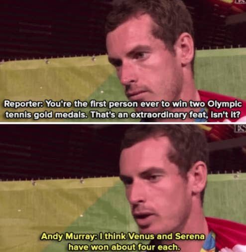 Andy Murray telling it like it is. Happy Birthday