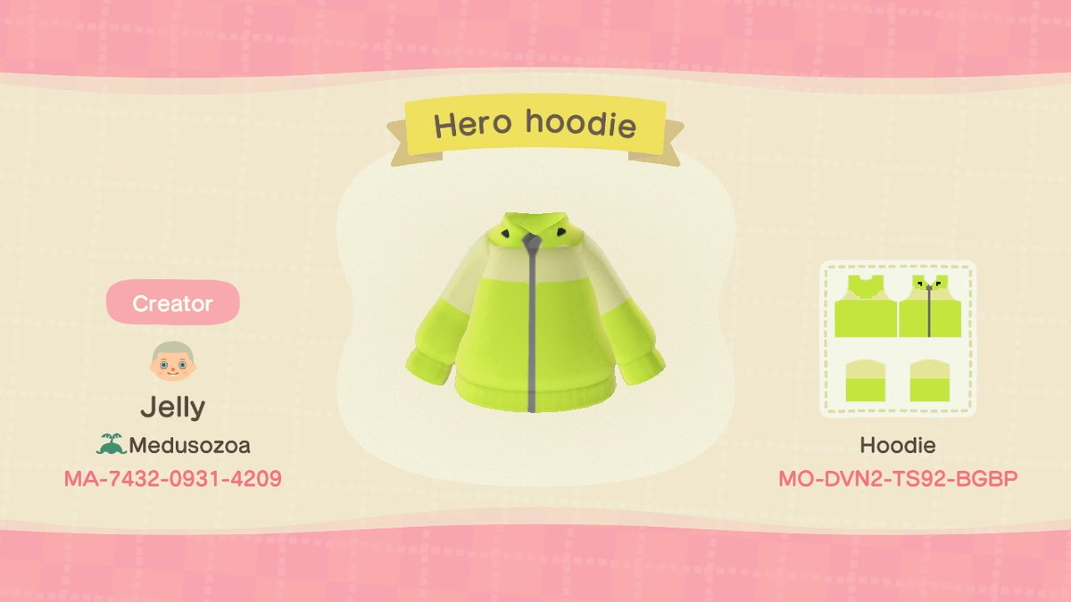 #AnimalCrossing #ACNH #NintendoSwitch Hero Hoodie from Splaoon 2