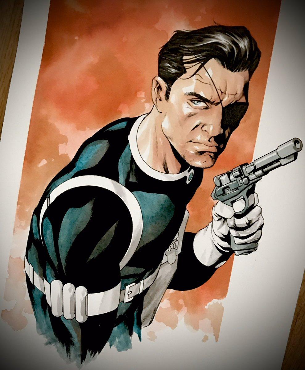 Nick Fury #nickfury #marvelcomics #mckone tdartgallery.com/ArtistGalleryR…