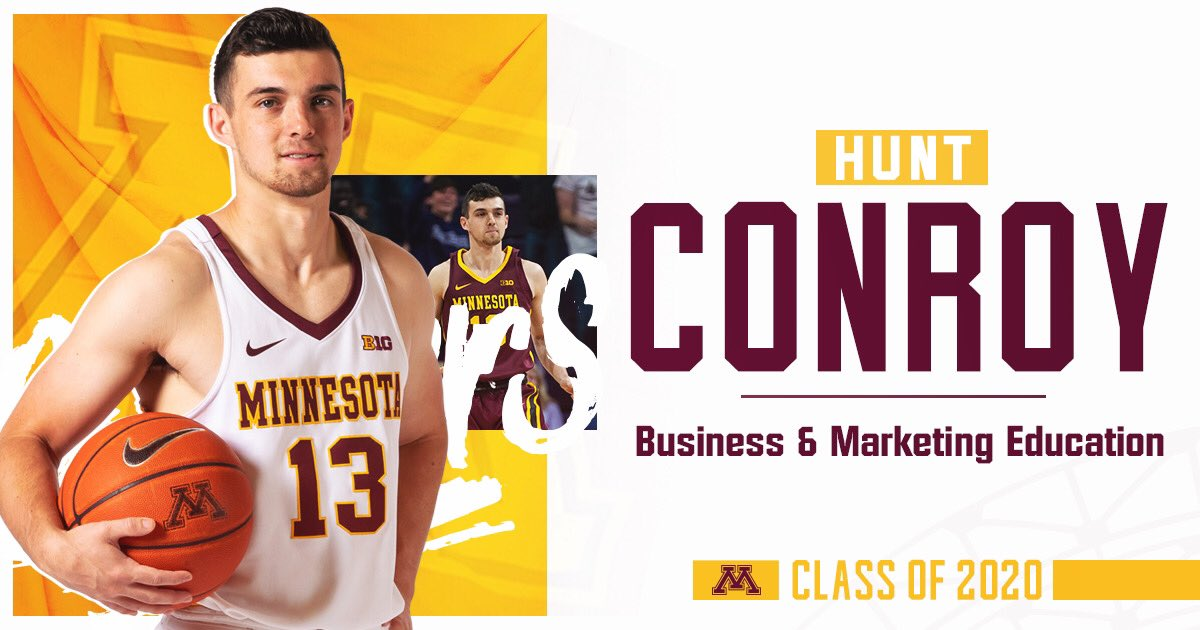 Last but not least, congrats to Hunt who will earn his degree this summer!  #UMNProud x #HailtoThee2020 https://t.co/WUlf6OBIJQ