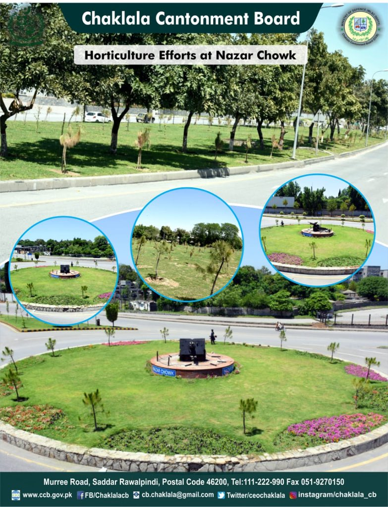 :: Horticulture Efforts at Nazar Chowk ::  Chaklala Stays Green, Keep Chaklala Green  #CBCARE #CCB #Chaklala #Rawalpindi #Rawalpindians #Horticulture #Nazarchowkpic.twitter.com/Jt0jjaUA0z