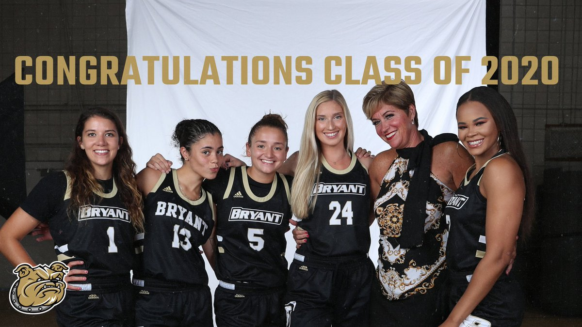 Congratulations to our seniors on graduating today! Proud of everything you have accomplished 👩🎓🐶  #AllHeart | #AllHustle | #WeAreBryant https://t.co/Lk3lKOuec1