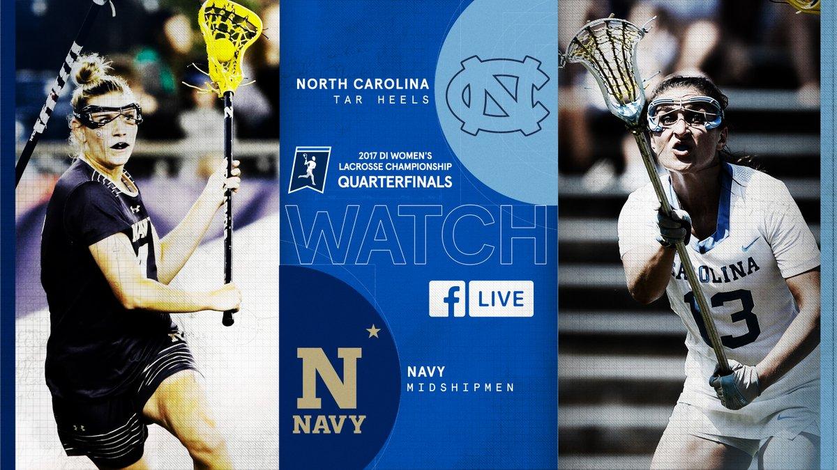 WATCH NOW 🥍 Quarterfinal Matchup ⚓️ @NavyWLax 🆚 🐏 (2) @uncwlax 💻 b.link/facebook8516 #NCAAWLAX