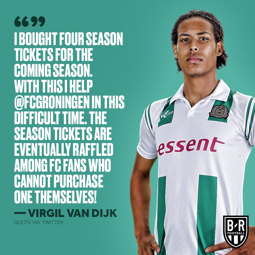 Virgil van Dijk is looking out for fans of his first senior club who can't buy a season ticket of their own  <br>http://pic.twitter.com/U9GoEk9kHl