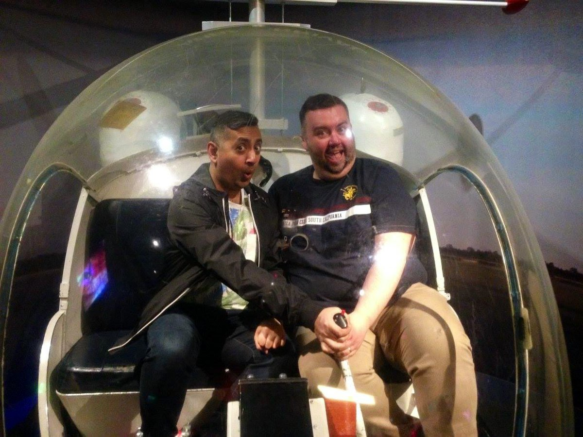 One of my favourite things about #Eurovision2016 in Sweden was the opportunity to go to the ABBA museum with @daniel_twist. Here we are sat in the actual helicopter from the Arrival album cover! #Eurovision2020 #ShineALight https://twitter.com/Eurovision/status/1261760599689588736…pic.twitter.com/jOU0gnUfUf