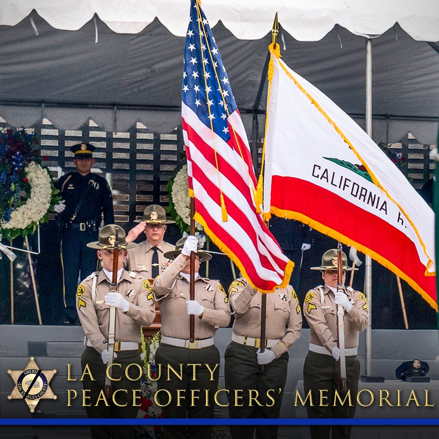 We invite you to join local law enforcement in honoring the fallen at the 51st Los Angeles County Peace Officers Memorial Ceremony. Due to #COVID19, this years event will be streamed online on @Facebook, @YouTube & LASD.org. Visit facebook.com/events/2778516… for more