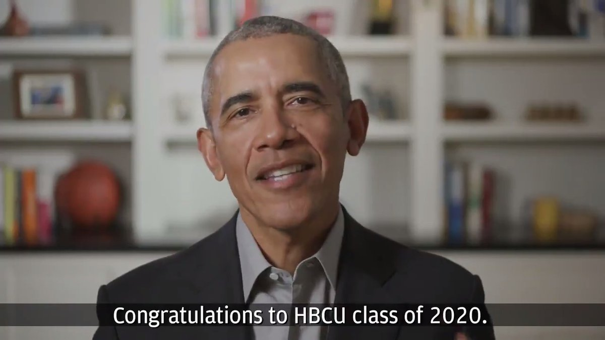 Thank you @BarackObama for your support for HBCUs—and for believing in the Class of 2020 as they set out to change the world. #ShowMeYourWalk https://t.co/dqgqvbmksS