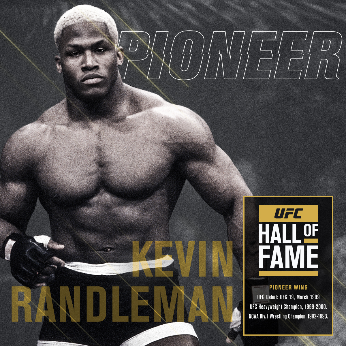 """""""Everyone on this planet is unbreakable.""""  Kevin Randleman #UFCHoF Collection 