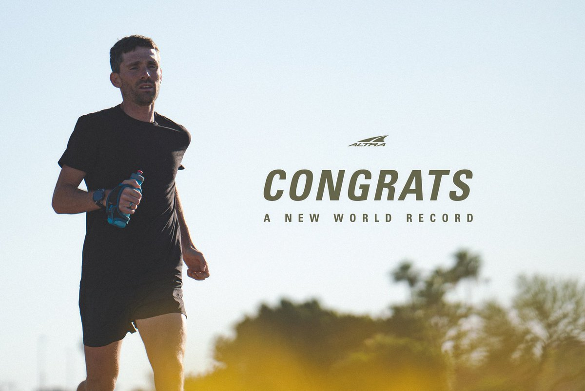 He does it again! Congratulations to #TeamAltra Elite @zbitter on pushing his limits to accomplish yet another #WorldRecord. 100 Miles on a treadmill in 12:09:15 (unofficial) Photo by @derricklytle