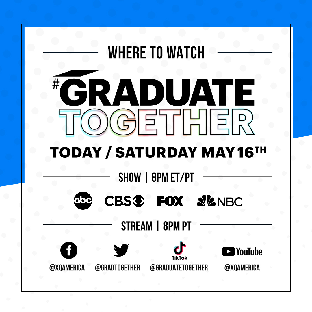 It's time to #GraduateTogether with President @BarackObama. Hats off to you, #ClassOf2020! Get ready to tune in! https://t.co/1LNfR0YEJt