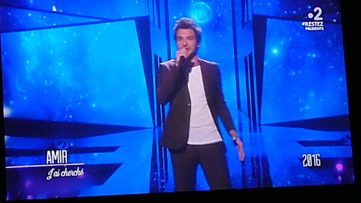 @Amir_Off dans l' émission : #LaGrandeHistoireDeLeurovision #Eurovision2016 #Jaicherche Une soirée mémorable... #Amir rend honneur à la France , classé 6ème @EurovisionF2pic.twitter.com/Oj42z1bNEs