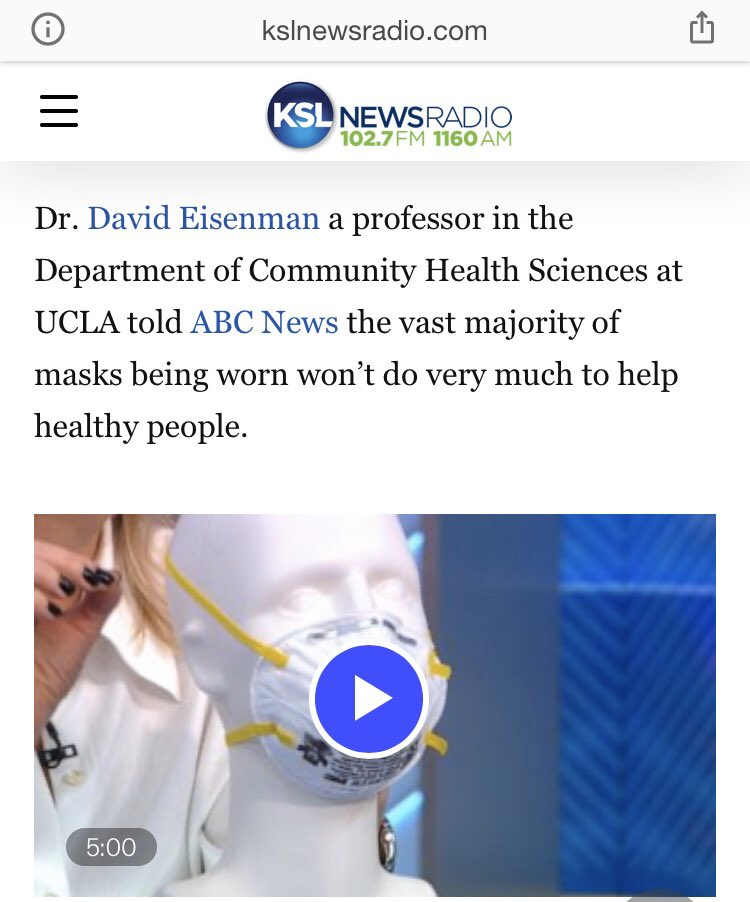 Seeing a lot of tweets for people being shamed for not wearing masks outside   If you're healthy, wearing a mask doesn't really provide you many benefits according to this expert below ⤵️ https://t.co/VDlryTFrTv