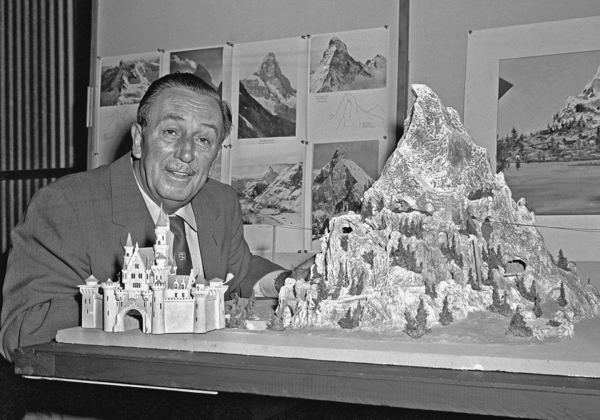 Walt Disney And The Matterhorn Scale Model