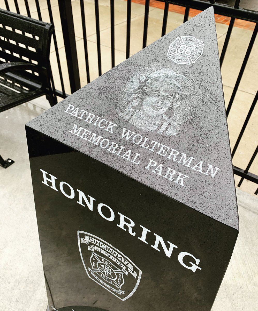 The Patrick Wolterman Memorial Park! Thank you College Hill! ❤️ #hfdwolterman #collegehill https://t.co/3eeDWoxt93