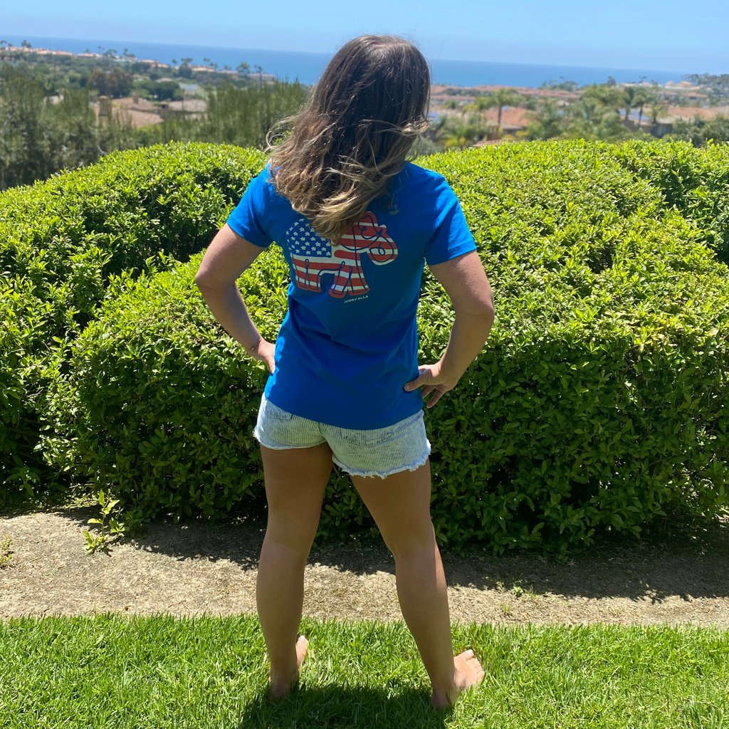 USA!👏USA!👏USA!👏🇺🇸 NEW Ella Regular Fit Americana Tee 🐘#MemorialDay2020 #IEforME ivoryella.com/products/ella-…
