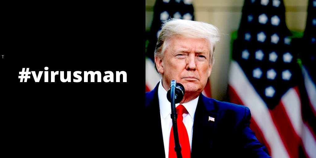 "This #virusman individual calls himself a ""War President"". Well so far he lost 90.000 soldiers. #TrumpResignNow https://t.co/O3lIFF55b3"