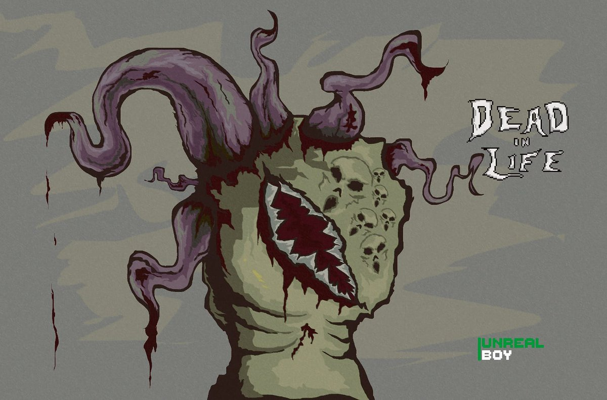 """Conceptual Art!! Of my  game """"Dead in life"""" #pixel_dailies #ilustration #IndieGameDevpic.twitter.com/LGYGla3FjY"""