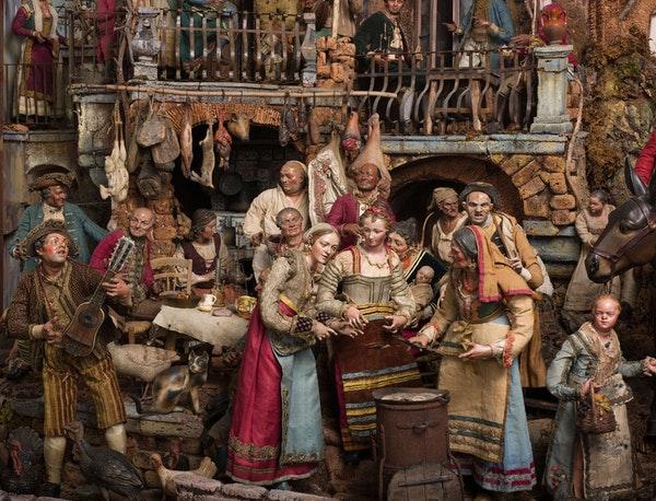 El maravilloso #BelenNapolitano ( med. siglo XVIII) del Art Institute of Chicago: https://t.co/lTl1xNQSD4 #belenismo https://t.co/y3UFvPqDmf