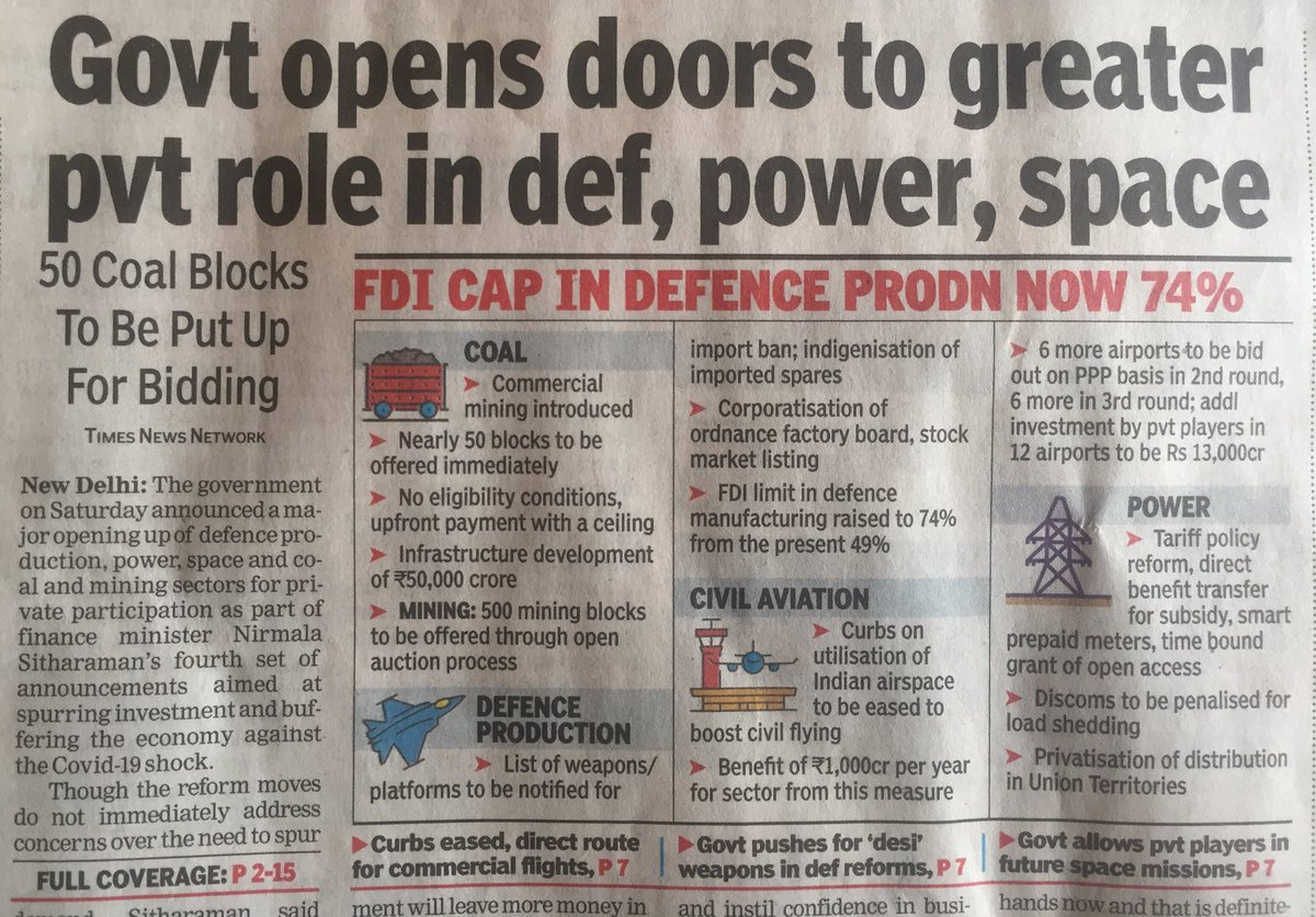 Awesome! But does this also signify the beginning of a military-industrial Complex in India? #musings https://t.co/yNaNFI2kM9