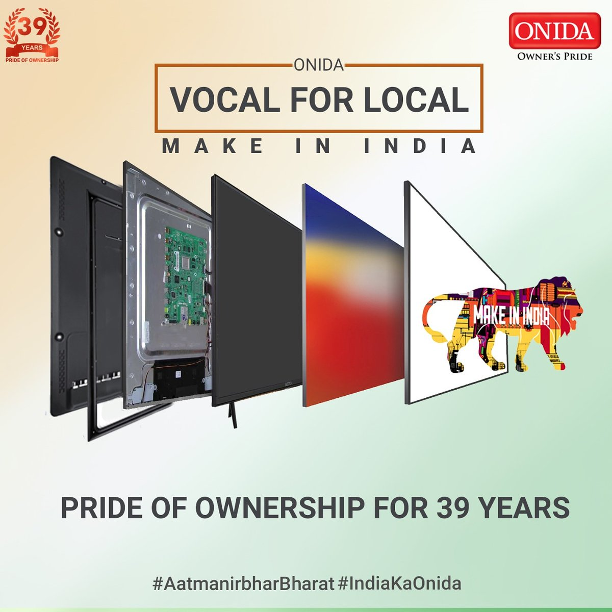 Excellence in Innovation and Pride of ownership for 39 years, We will always be #IndiaKaOnida. - https://t.co/4fQiyrqGPn https://t.co/MCgoSdwE5X