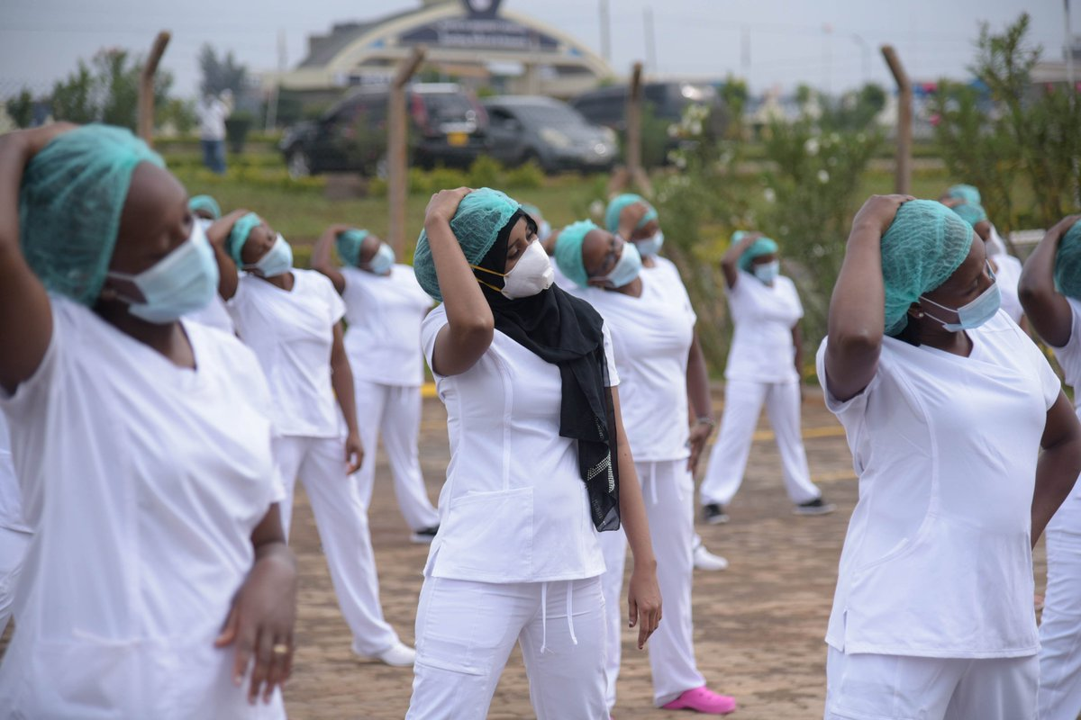 The @NCKenya (Nursing Council of Kenya) launched the Zumba dance at #KUTRRH that is set to spread to the other healthcare facilities throughout the rest of the week in commemoration of the #NursesDay2020 & #InternationalMidwivesDay