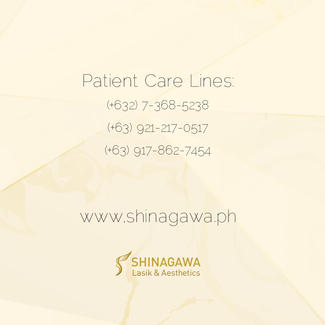 Check our social media accounts or go to shinagawa.ph to see the schedules of our clinics. For further inquiries, call our Patient Care Lines: (+632) 7-368-5238, (+63) 921-217-0517, (+63) 917-862-7454.