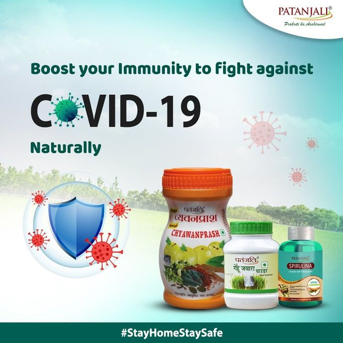 Strengthen your immune system & improve your health naturally with Patanjali Products, made from natural herbs. It helps to fight & prevent you from various viruses with no side effects. #RamdevOnIndiaTV #Swami_RamdevJi_at_IndiaTV  IMAGES, GIF, ANIMATED GIF, WALLPAPER, STICKER FOR WHATSAPP & FACEBOOK