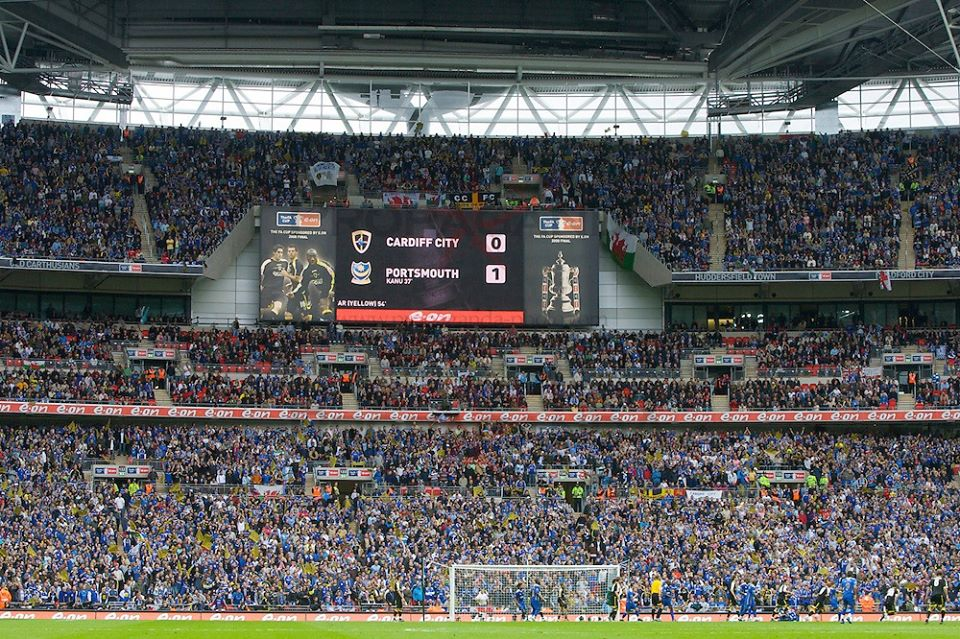 ON THIS DAY 2008: Cardiff City at Wembley for the FA Cup final against Portsmouth #CCFC #BLUEBIRDS