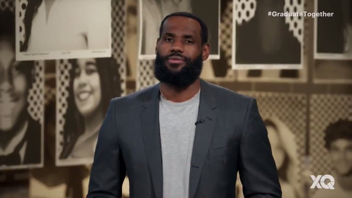 👏 Proud to have both Ervin & @KingJames as role models to our #IPROMISE students and as leaders in the Akron community and across the country. #WeAreFamily ❤️ #GraduateTogetherhttps://t.co/eWdvllELla