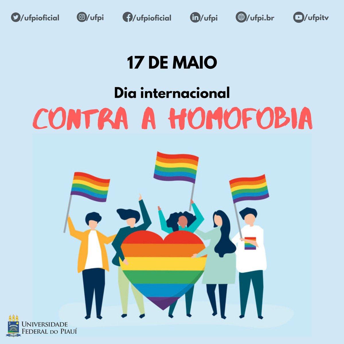🌈 A homofobia deve ser combatida todos os dias, para que assim possamos construir uma sociedade livre de discriminação e com mais respeito, independente de orientação sexual ou identidade de gênero. . . #ufpi #vempraufpi #minhaufpi #2020 #homofobianao