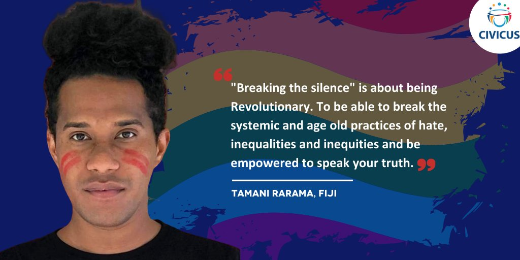 'Breaking the silence is about being revolutionary' - @Tamani_Rarama